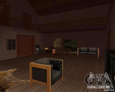 Villa na lagoa de pesca para GTA San Andreas sétima tela