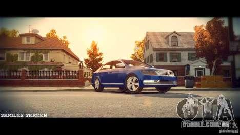 VW Passat B7 TDI Blue Motion para GTA 4 vista interior