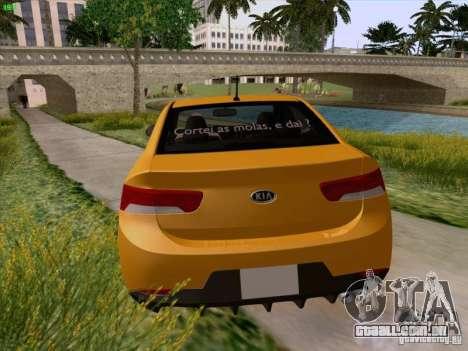 Kia Cerato Coupe 2011 para GTA San Andreas vista inferior