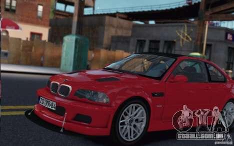BMW M3 E46 Street Version para GTA 4 traseira esquerda vista