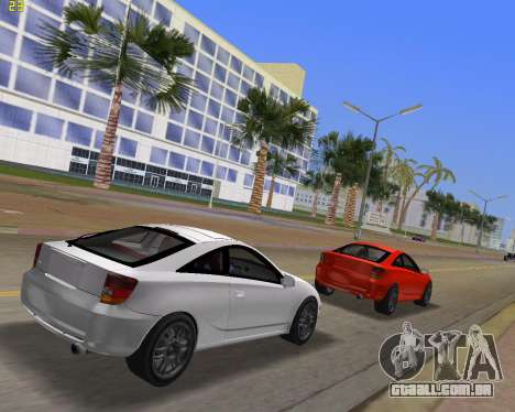 Toyota Celica 2JZ-GTE preto Revel para GTA Vice City vista traseira esquerda