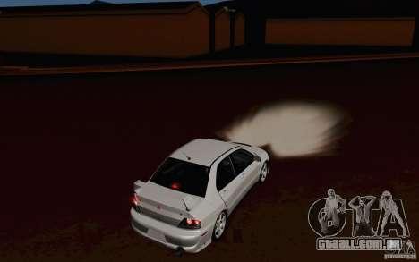 Mitsubishi Lancer Evo VIII GSR para GTA San Andreas vista direita