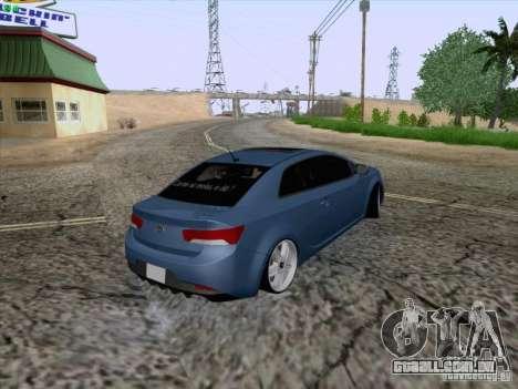 Kia Cerato Coupe 2011 para GTA San Andreas vista interior