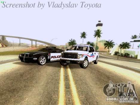 Ford F-150 Road Sheriff para GTA San Andreas vista interior