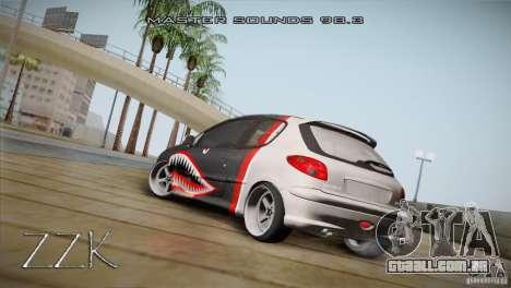 Peugeot 206 Shark Edition para GTA San Andreas vista direita