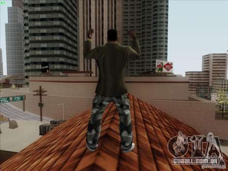 Gentleman Dance Animation para GTA San Andreas por diante tela