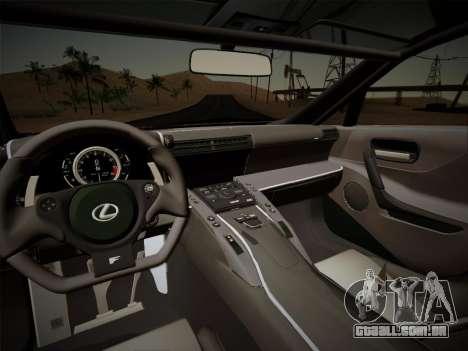 Lexus LFA Nürburgring Edition para GTA San Andreas
