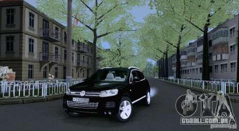 Volkswagen Touareg 2012 para GTA San Andreas vista interior