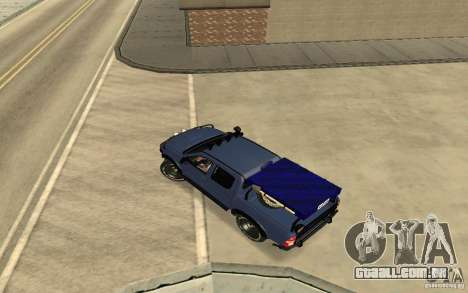 Toyota Hilux Rally Version para GTA San Andreas traseira esquerda vista