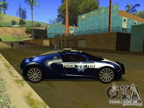 Bugatti Veyron Federal Police para GTA San Andreas esquerda vista
