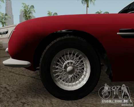 Aston Martin DB5 para GTA San Andreas vista interior