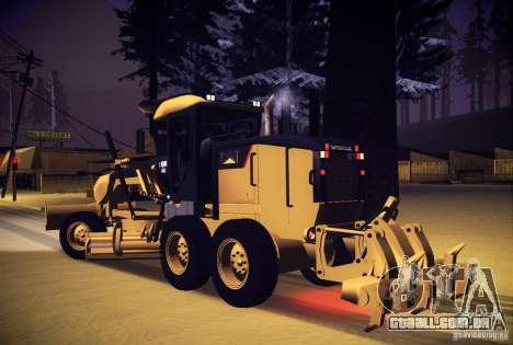 Caterpillar 140AWD Motorgrader para GTA San Andreas esquerda vista