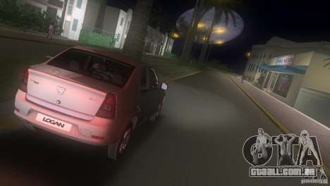 Dacia Logan para GTA Vice City vista traseira