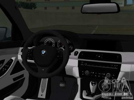 BMW M5 F10 2012 para GTA Vice City interior