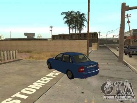 LADA 2170 dreno para GTA San Andreas traseira esquerda vista