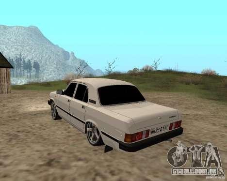 GAZ 31029 para GTA San Andreas traseira esquerda vista