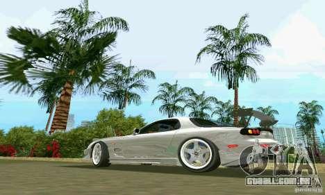 Mazda RX7 tuning para GTA Vice City deixou vista
