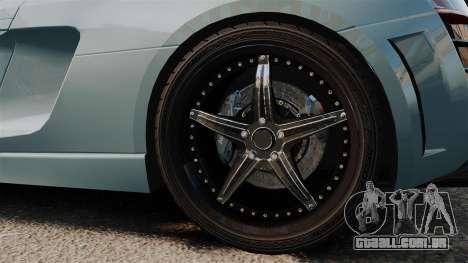 Audi R8 Spider Body Kit para GTA 4 vista de volta