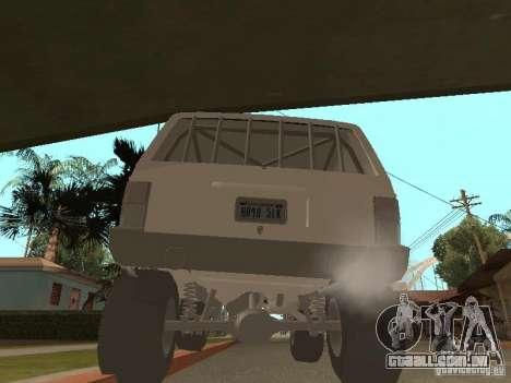 Jeep Cherokee 1984 v.2 para GTA San Andreas vista direita