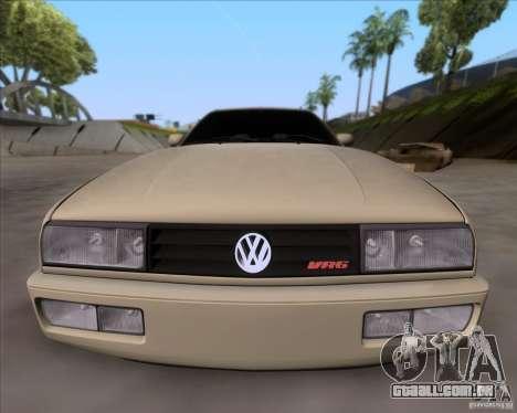 Volkswagen Corrado VR6 1995 para GTA San Andreas vista interior