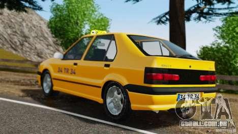 Táxi Renault 19 para GTA 4 traseira esquerda vista