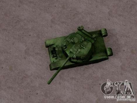 T-80 para GTA San Andreas traseira esquerda vista