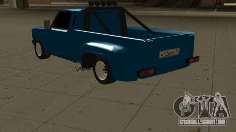 VAZ 2107 Ford para GTA San Andreas traseira esquerda vista