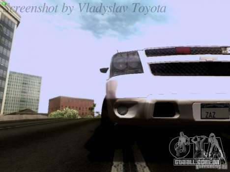 Chevrolet Avalanche 2007 para GTA San Andreas vista interior