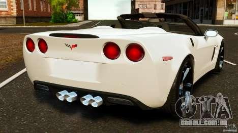 Chevrolet Corvette C6 2010 Convertible para GTA 4 traseira esquerda vista