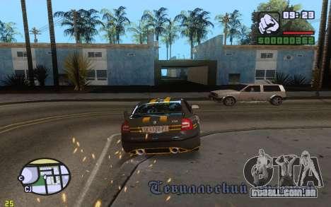 ENBSeries By VadimSpiridonov v.0.2 para GTA San Andreas segunda tela