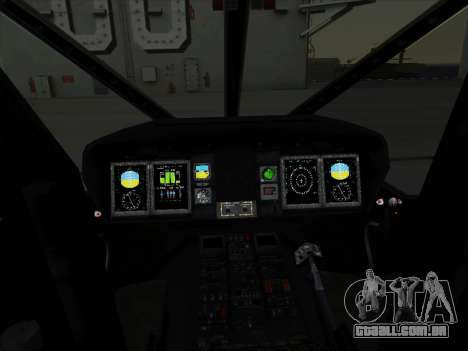 MH-X Stealthhawk para GTA San Andreas vista traseira