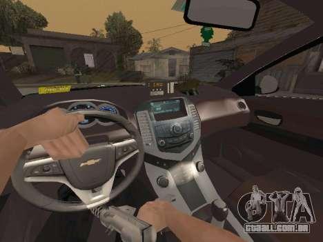 Chevrolet Cruze Carabineros Police para vista lateral GTA San Andreas