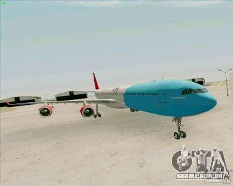 Airbus A-340-600 Plummet para GTA San Andreas