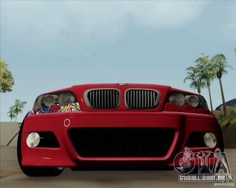 BMW E46 para GTA San Andreas esquerda vista