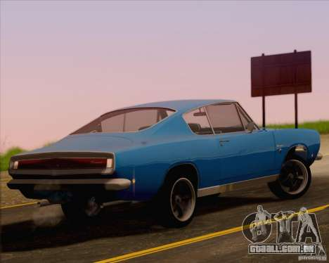 Plymouth Barracuda 1968 para GTA San Andreas esquerda vista