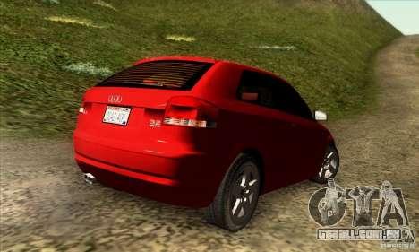 Audi A3 Tunable para GTA San Andreas esquerda vista