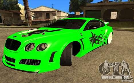 Bentley Continental GT para GTA San Andreas
