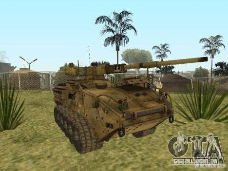 BMTV M1128 MGS para GTA San Andreas vista traseira