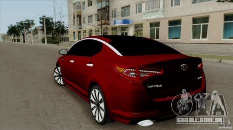 KIA Optima para GTA San Andreas esquerda vista