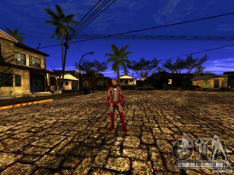 Iron Man 3 Mark V para GTA San Andreas terceira tela