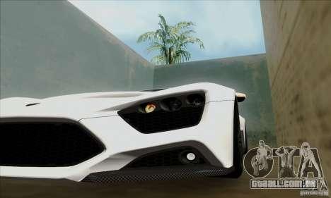 Zenvo ST1 2010 para GTA San Andreas traseira esquerda vista