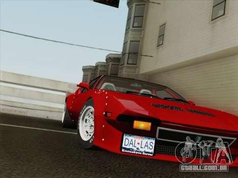 De Tomaso Pantera GT4 para vista lateral GTA San Andreas