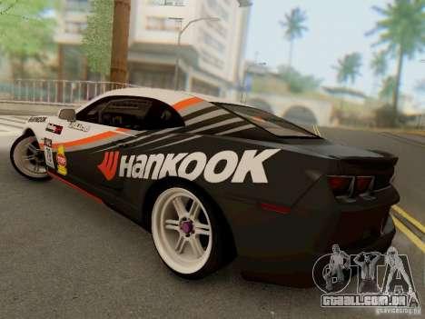Chevrolet Camaro Hankook Tire para GTA San Andreas traseira esquerda vista