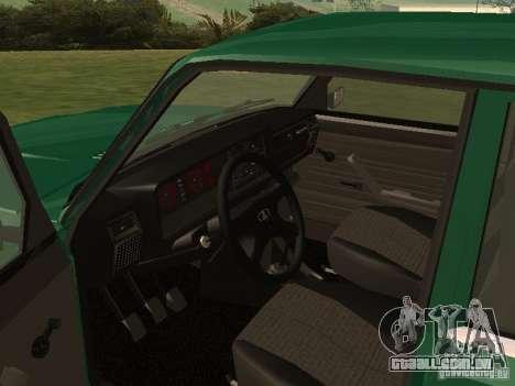 VAZ 2107 1988 para GTA San Andreas vista direita