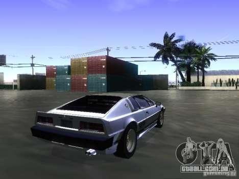 Lotus Esprit Turbo para GTA San Andreas esquerda vista