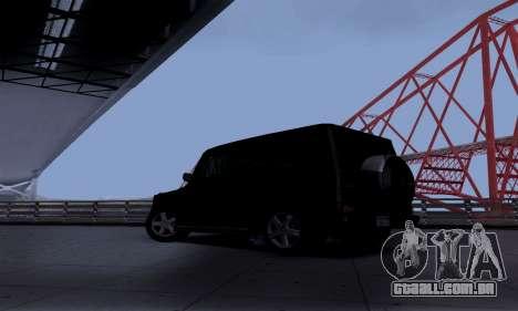 Mercedes-Benz G500 para GTA San Andreas traseira esquerda vista