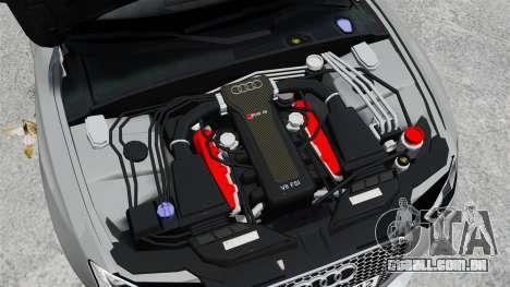 Audi RS5 2012 para GTA 4 vista de volta