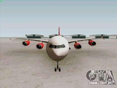 Airbus A-340-600 Virgin para GTA San Andreas vista interior