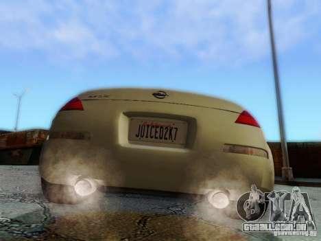 Nissan 350Z Cabrio para GTA San Andreas vista interior