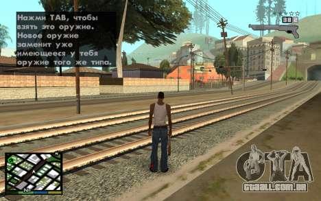 GTA V Interface para GTA San Andreas terceira tela